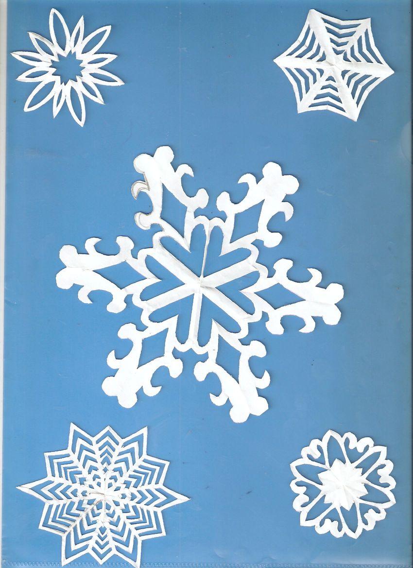 Пышные снежинки  из бумаги схемы